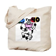 Holy Cow I'm 40 Tote Bag