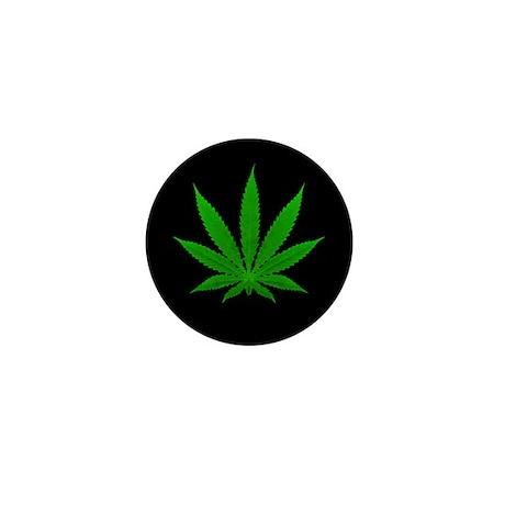 Pot Leaf Mini Button (100 pack)
