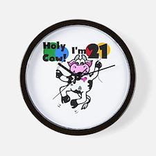 Holy Cow I'm 21 Wall Clock