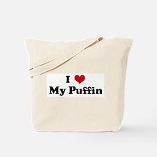 I Love My Puffin Tote Bag