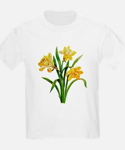 HOST OF DAFFODILS FAUX EMBROIDERY T-Shirt
