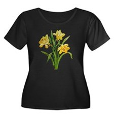 HOST OF DAFFODILS FAUX EMBROIDERY T