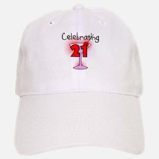 Cocktail Celebrating 21 Baseball Baseball Cap