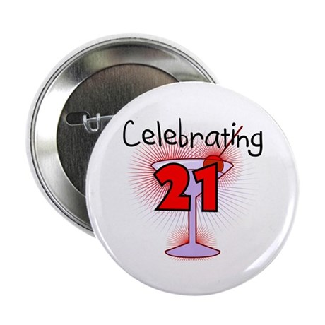 "Cocktail Celebrating 21 2.25"" Button (10 pack)"