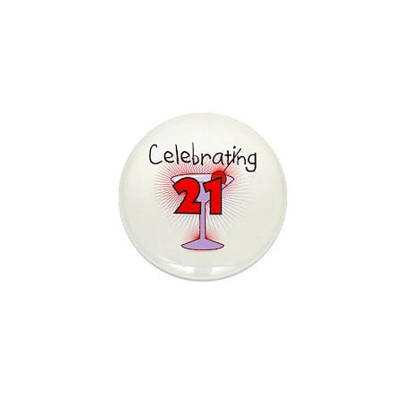 Cocktail Celebrating 21 Mini Button