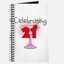 Cocktail Celebrating 21 Journal