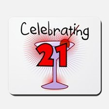 Cocktail Celebrating 21 Mousepad