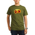 Fiery Maya Jaguar Claw Organic Men's T-Shirt (dark