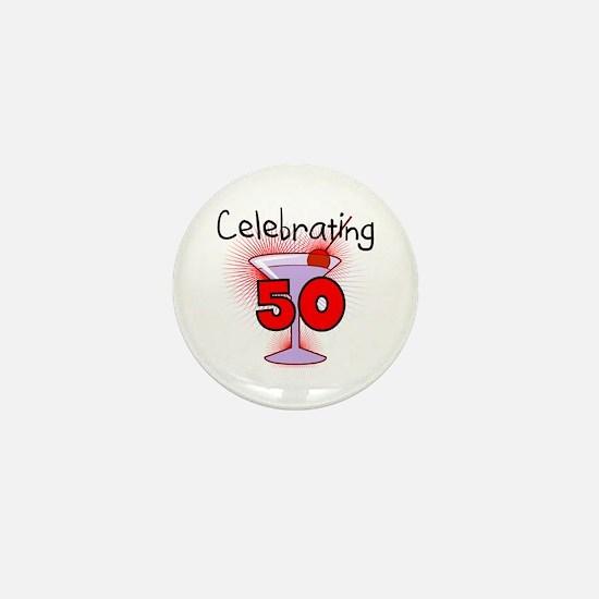 Cocktail Celebrating 50 Mini Button