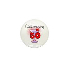 Cocktail Celebrating 50 Mini Button (10 pack)