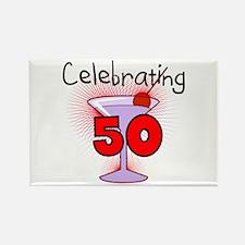 Cocktail Celebrating 50 Rectangle Magnet (100 pack