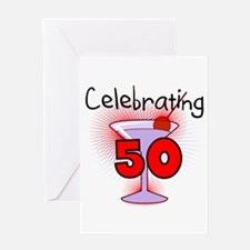Cocktail Celebrating 50 Greeting Card