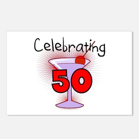Cocktail Celebrating 50 Postcards (Package of 8)