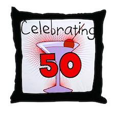 Cocktail Celebrating 50 Throw Pillow