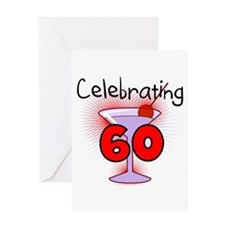 Cocktail Celebrating 60 Greeting Card