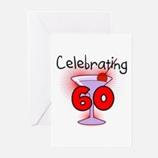 Cocktail Celebrating 60 Greeting Cards (Pk of 10)