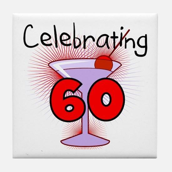 Cocktail Celebrating 60 Tile Coaster