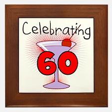 Cocktail Celebrating 60 Framed Tile