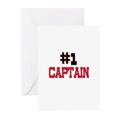 Number 1 CAPTAIN Greeting Cards (Pk of 10)