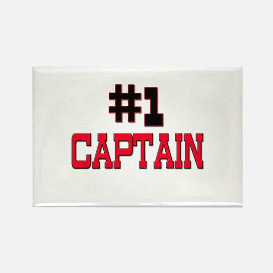 Number 1 CAPTAIN Rectangle Magnet