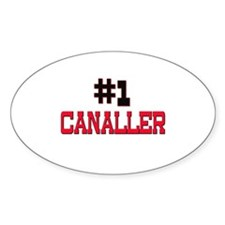 Number 1 CANALLER Oval Decal