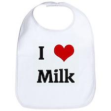 I Love Milk Bib