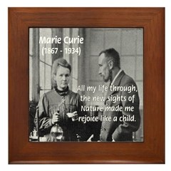 Marie Curie Physics Liberty Framed Tile