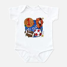 Sports 1st Birthday Infant Bodysuit