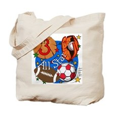 Sports 3rd Birthday Tote Bag