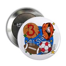 "Sports 3rd Birthday 2.25"" Button"