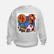 Sports 4th Birthday Sweatshirt