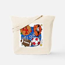Sports 4th Birthday Tote Bag