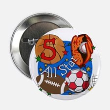 "Sports 5th Birthday 2.25"" Button"