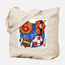 Sports 6th Birthday Tote Bag