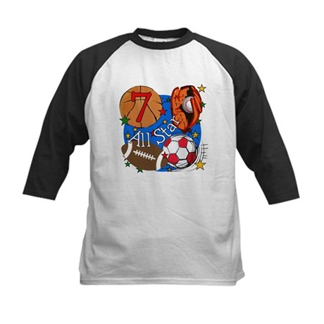 Sports 7th Birthday Kids Baseball Jersey