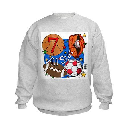 Sports 7th Birthday Kids Sweatshirt