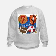 Sports 7th Birthday Sweatshirt