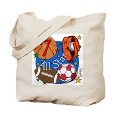 Sports 7th Birthday Tote Bag
