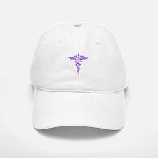 Abstract Medical Symbol Pink Baseball Baseball Cap
