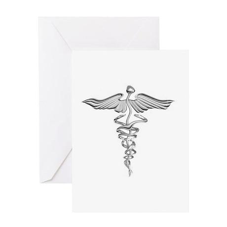 Abstract Medical Symbol Gray. Greeting Card