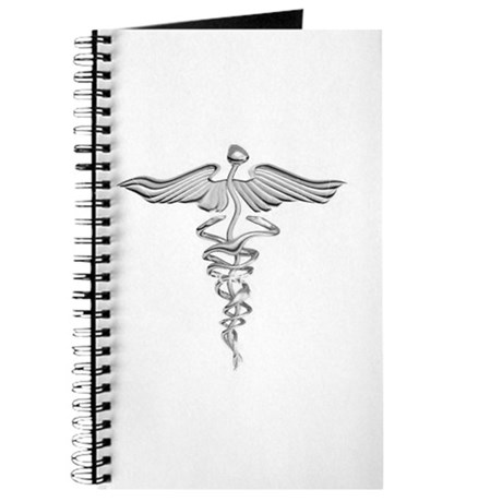 Abstract Medical Symbol Gray. Journal