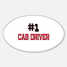 Number 1 CAB DRIVER Oval Decal