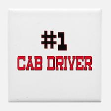 Number 1 CAB DRIVER Tile Coaster