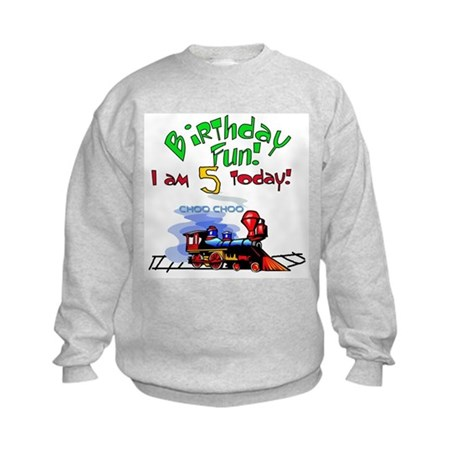 Train 5th Birthday Kids Sweatshirt