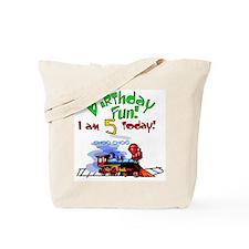 Train 5th Birthday Tote Bag