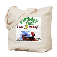 Train 3rd Birthday Tote Bag