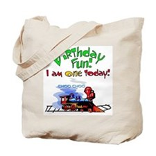 Train 1st Birthday Tote Bag