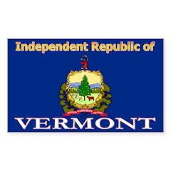 Vermont-4 Rectangle Sticker 50 pk)