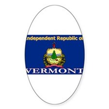 Vermont-4 Oval Decal