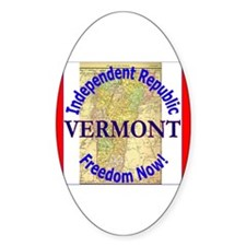 Vermont-3 Oval Decal